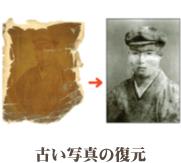 古い写真の復元